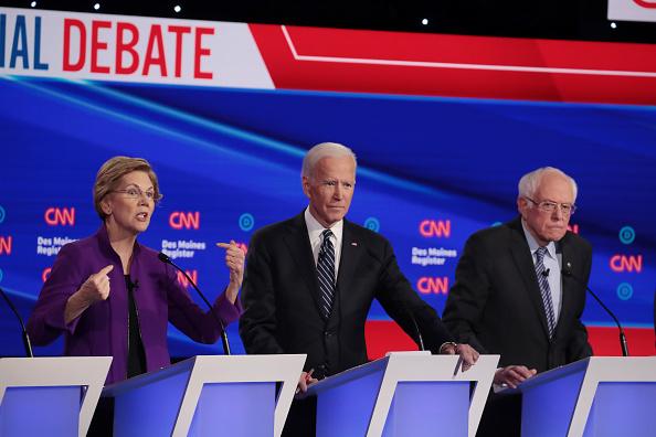 Des Moines - Iowa「Democratic Presidential Candidates Participate In Presidential Primary Debate In Des Moines, Iowa」:写真・画像(8)[壁紙.com]