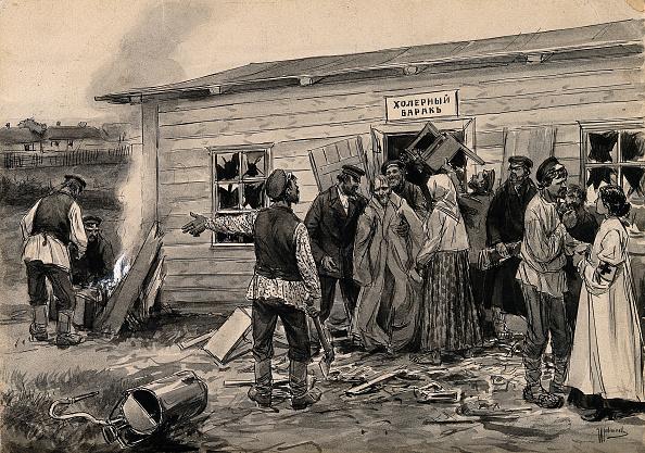 Realism「Scene At A Cholera Barracks (From The Series Of Watercolors Russian Revolution)」:写真・画像(12)[壁紙.com]