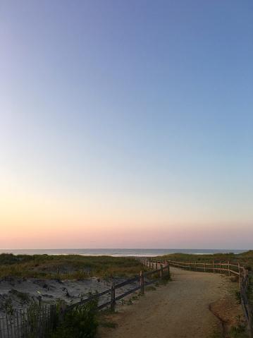 ニュージャージー州 ジャージー・ショア「Path and Sunrise on The Jersey Shore」:スマホ壁紙(8)