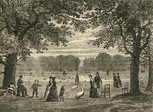 Kensington Gardens「The Round Pond」:写真・画像(2)[壁紙.com]