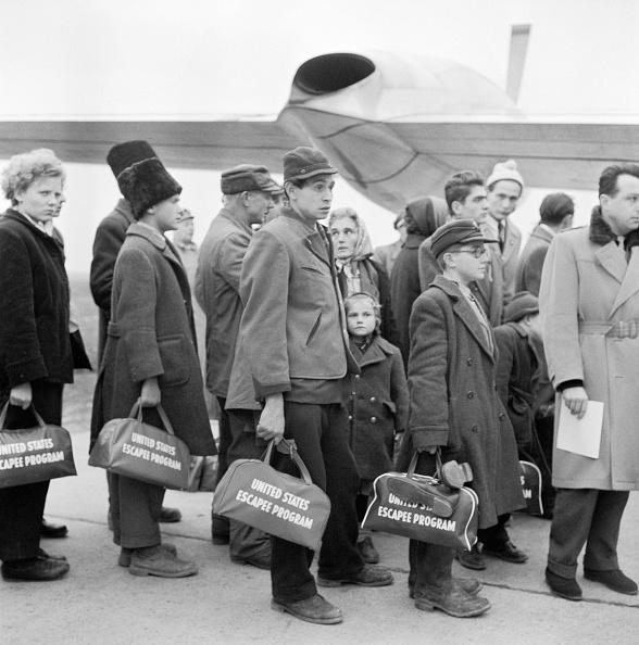 ハンガリー「Hungarian refugees bording the plane for America...」:写真・画像(9)[壁紙.com]