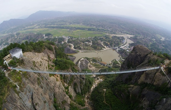 Tourism「Glass Suspension Bridge Is Open To The Public In Hunan」:写真・画像(17)[壁紙.com]