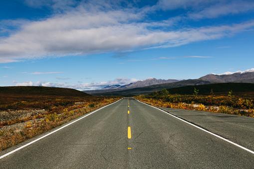Empty Road「Empty Denali National Park road, near Paxson; Alaska, United States of America」:スマホ壁紙(15)