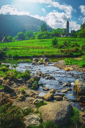 Republic of Ireland「Glendalough monastic site in Country Wicklow, Ireland」:スマホ壁紙(1)