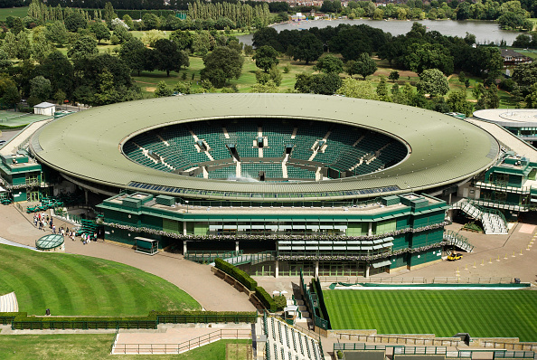 Empty「No 1 Court, All England Lawn Tennis Club, Wimbledon, London, UK, 2008, elevated view」:写真・画像(6)[壁紙.com]