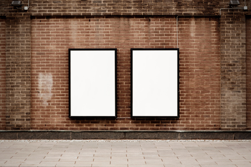 余白「通りのポスター」:スマホ壁紙(10)