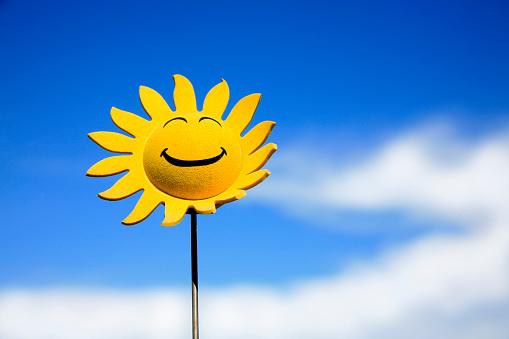 Smiling「Sunflower smiley face」:スマホ壁紙(18)