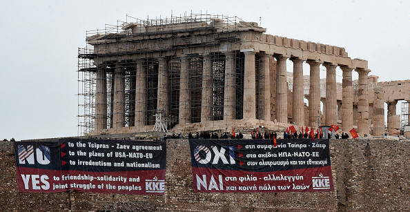 Banner - Sign「Banners Are Hung At The Acropolis Protesting Macedonia Name Change」:写真・画像(17)[壁紙.com]