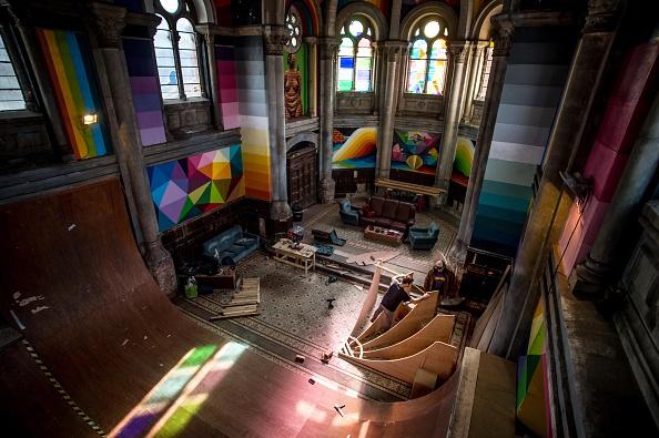 Skateboard Park「Empty Church Hosts A Skate Park In Oviedo」:写真・画像(10)[壁紙.com]
