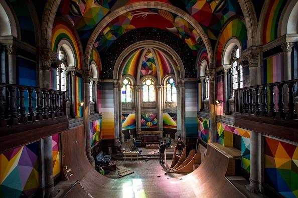 Skateboard Park「Empty Church Hosts A Skate Park In Oviedo」:写真・画像(9)[壁紙.com]