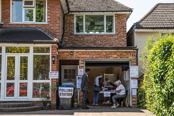 Polling Place「British Voters Go To The Polls In The European Elections」:写真・画像(9)[壁紙.com]