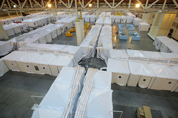 New Orleans「Medical Monitoring Station For Coronavirus Patients Set Up At Morial Convention Center」:写真・画像(17)[壁紙.com]