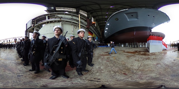 Panoramic「German Navy Christens New Frigate At Blohm+Voss Shipyard」:写真・画像(18)[壁紙.com]