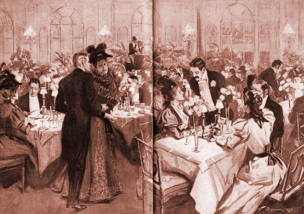 Upper Class「Members of high society at the Waldorf Hotel, 1896」:写真・画像(11)[壁紙.com]