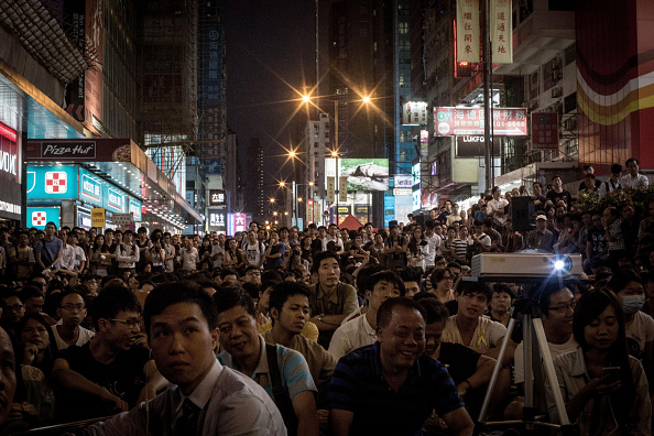 Projection Equipment「Hong Kong Pro-Democracy Rallies Enter Week Four Despite Police Efforts To Clear The Streets」:写真・画像(17)[壁紙.com]