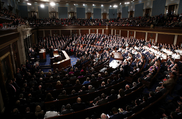 Congress「Donald Trump Delivers Address To Joint Session Of Congress」:写真・画像(14)[壁紙.com]