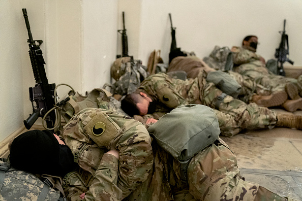 National Guard「Washington, DC Prepares For Potential Unrest Ahead Of Presidential Inauguration」:写真・画像(8)[壁紙.com]