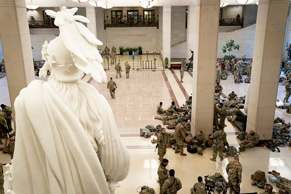National Guard「Washington, DC Prepares For Potential Unrest Ahead Of Presidential Inauguration」:写真・画像(18)[壁紙.com]