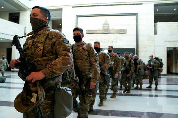 National Guard「Washington, DC Prepares For Potential Unrest Ahead Of Presidential Inauguration」:写真・画像(7)[壁紙.com]