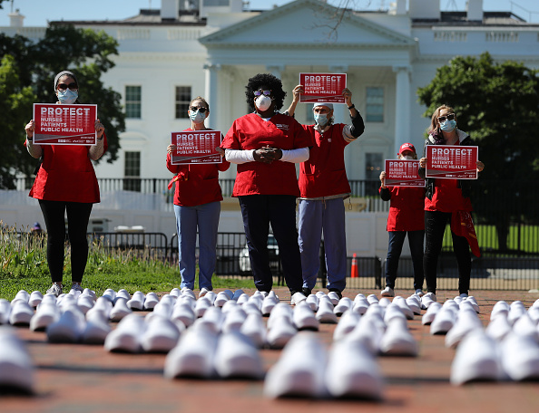 Week「Nurses Union Protests Outside White House Calling For More Protection For Frontline Workers」:写真・画像(7)[壁紙.com]