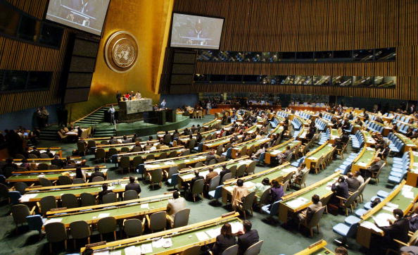 United Nations Building「General Assembly Meeting Discusses Progress In Fight Against HIV/AIDS」:写真・画像(3)[壁紙.com]