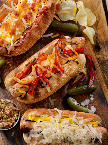 Bun - Bread「Gourmet Bratwurst Dogs」:スマホ壁紙(16)