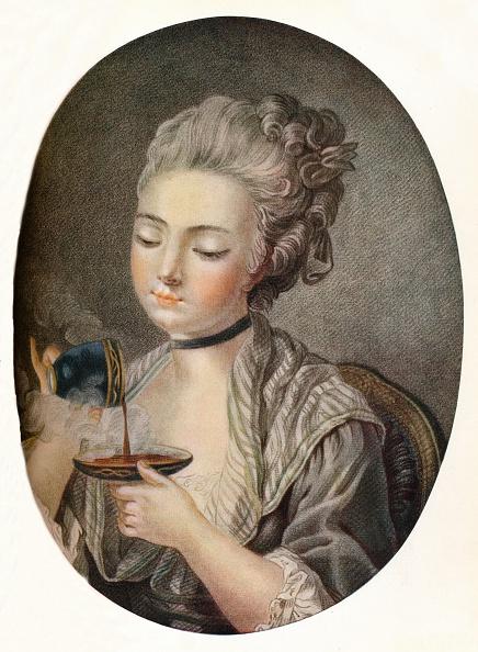Coffee - Drink「Girl Taking Coffee, c1774」:写真・画像(10)[壁紙.com]
