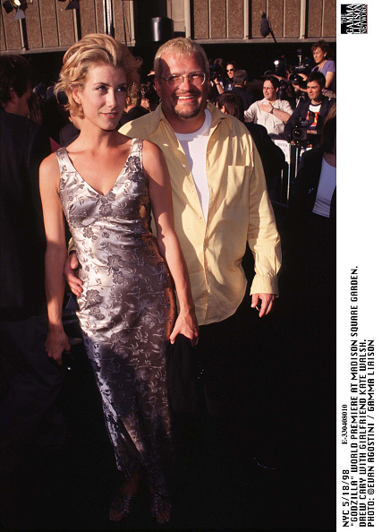 1998年映画 ゴジラ「Godzilla World Premiere At Madison Square Garden Drew Cary With Girlfriend Kate Walsh」:写真・画像(1)[壁紙.com]