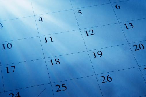 カレンダー「青色着色画像の明るい日差しとカレンダー」:スマホ壁紙(7)