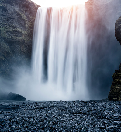 Waterfall「Skógafoss waterfall, Skógar, Iceland」:スマホ壁紙(13)