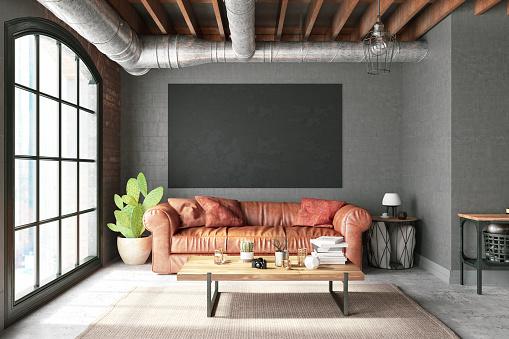 Art「Leather Sofa with Empty Frame」:スマホ壁紙(5)