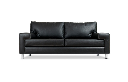 Black Color「Leather Sofa w/Clipping Path」:スマホ壁紙(7)