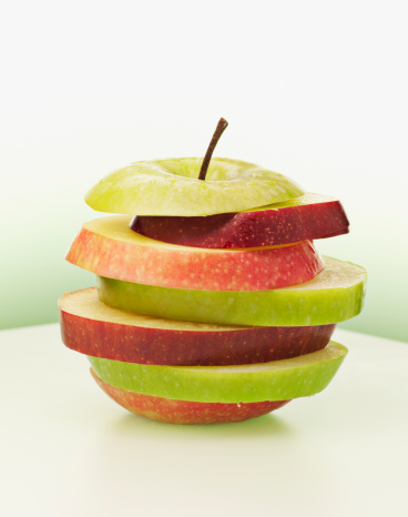 Contrasts「Alternating red and green apple slices」:スマホ壁紙(15)
