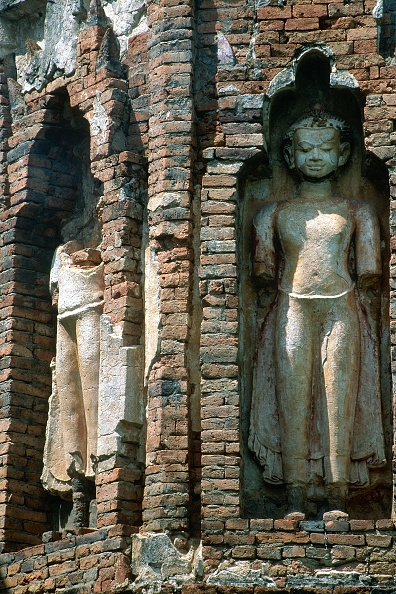 Wall - Building Feature「Wat Jed Yot temple. Chiang Mai, Thailand.」:写真・画像(4)[壁紙.com]