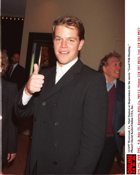 "David Keeler「12/2/97 WestWood, Ca Matt Damon at the premiere of the movie ""Good Will Hunting.""」:写真・画像(7)[壁紙.com]"