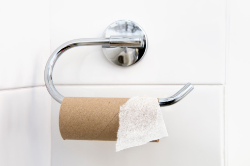 Sadness「Empty loo roll on holder in bathroom」:スマホ壁紙(1)