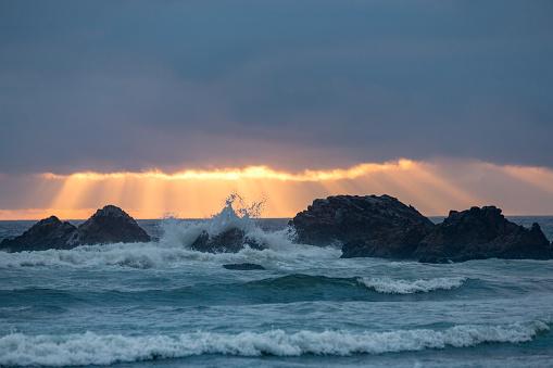 Cannon Beach「Rocks at Cannon Beach」:スマホ壁紙(1)