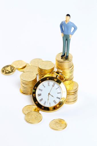 Work luck「Gold COINS and clock」:スマホ壁紙(12)