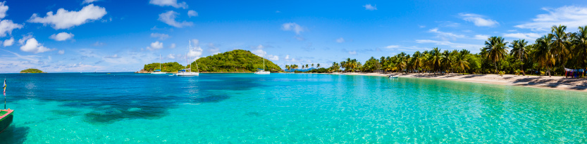 Salt Whistle Bay「Tropical shoreline landscape at Salt Whistle Bay, Mayreau」:スマホ壁紙(1)
