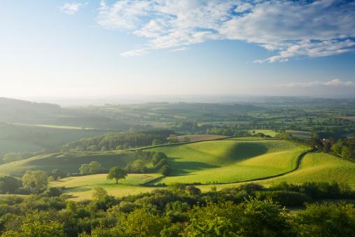 Rural Scene「The Marshwood Vale from Pilsdon Pen. Dorset. England. UK.」:スマホ壁紙(12)