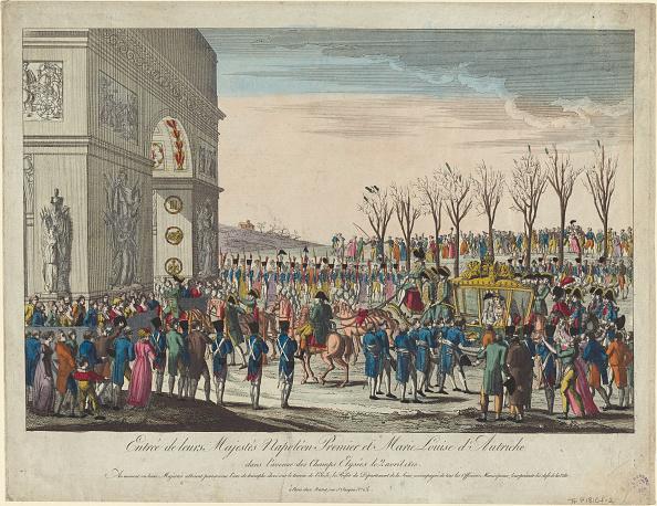 Arc de Triomphe - Paris「The Wedding Procession Of Napoleon And Marie-Louise  Along The Champs Elysées On 2Nd April 1810」:写真・画像(16)[壁紙.com]