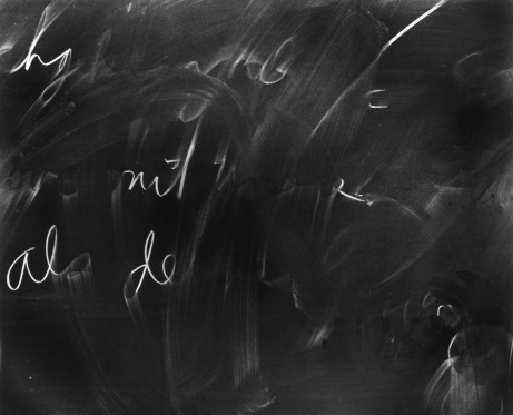 Writing「Chalkboard with half erased writing」:スマホ壁紙(13)