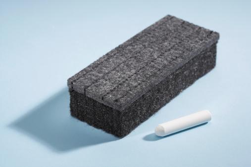 Chalk - Art Equipment「Chalkboard eraser and chalk」:スマホ壁紙(4)