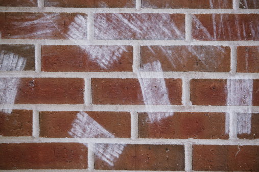 Board Eraser「Chalkboard eraser marks on brick wall」:スマホ壁紙(7)