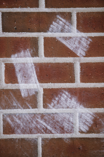 Board Eraser「Chalkboard eraser marks on brick wall」:スマホ壁紙(5)