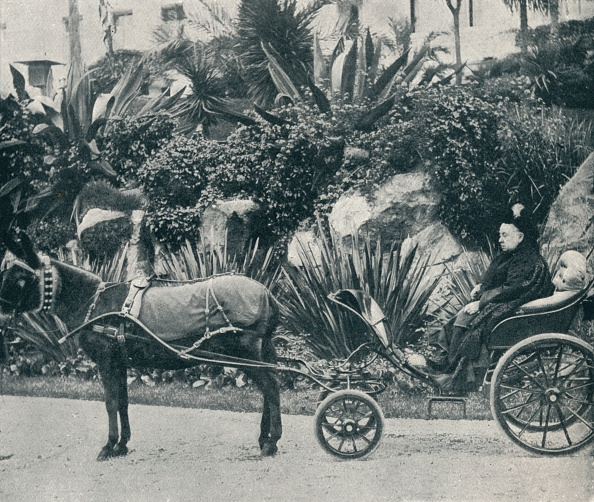 Transportation「'The Queen Driving in the Grounds of the Grand Hotel at Grasse During Her Holiday in the Riviera in  Artist: Alexander Lamont Henderson」:写真・画像(2)[壁紙.com]