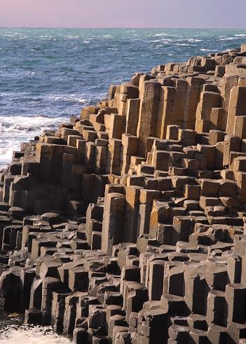 Basalt「Basalt columns, Giant's Causeway at dusk, N. Ireland.」:スマホ壁紙(8)