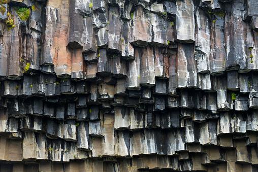Basalt「Basalt columns surrounding Svartifoss Waterfall, Skaftafell National Park, Vatnajokull, Iceland」:スマホ壁紙(1)