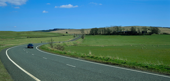 Finance and Economy「Trunk road in Northumberland, England, UK」:写真・画像(0)[壁紙.com]