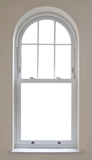 Sash Window「beautiful arched window with clipping path」:スマホ壁紙(5)